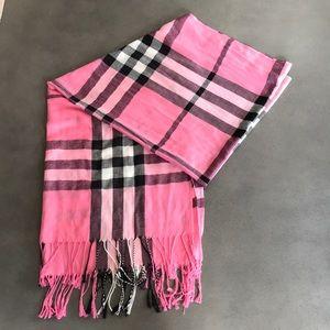 100% Pashmina plaid scarf